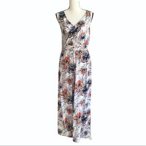 G by Giuliana Floral Sleeveless Jumpsuit White SP